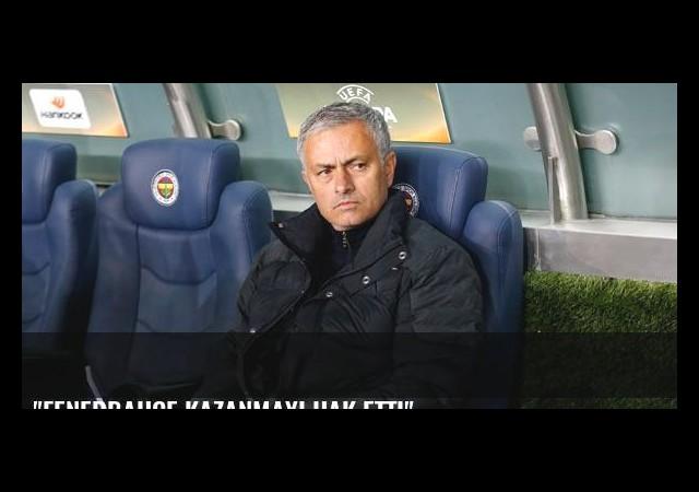 'Fenerbahçe kazanmayı hak etti'