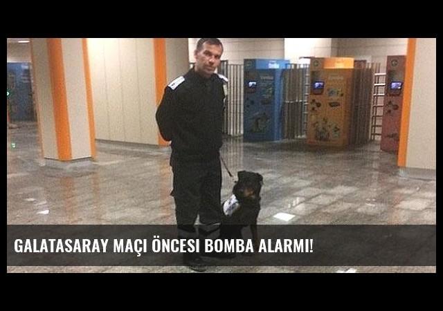 Galatasaray maçı öncesi bomba alarmı!