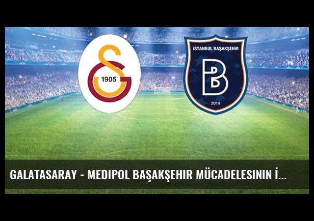 Galatasaray - Medipol Başakşehir Mücadelesinin İlk 11'leri Belli Oldu
