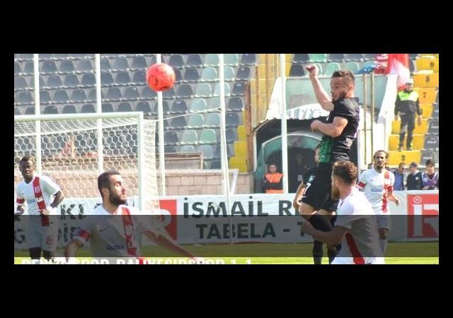 Denizlispor-Balıkesirspor 1-1
