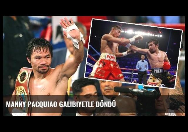 Manny Pacquiao galibiyetle döndü