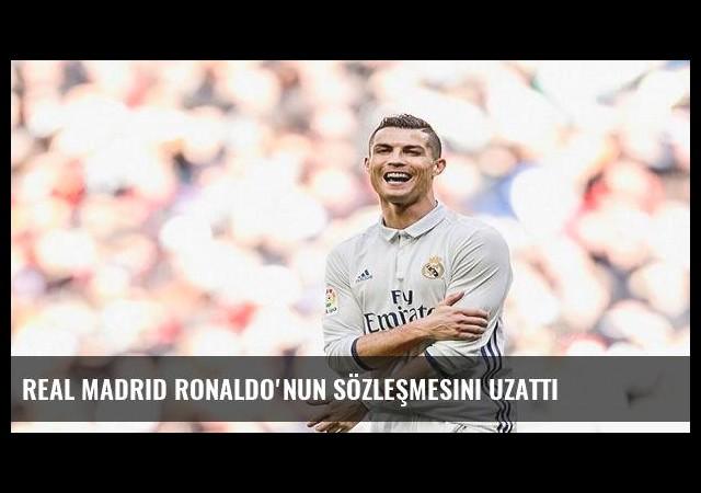 Real Madrid Ronaldo'nun sözleşmesini uzattı