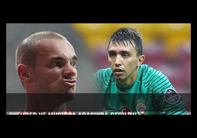 Sneijder ve Muslera arasında gerilim!