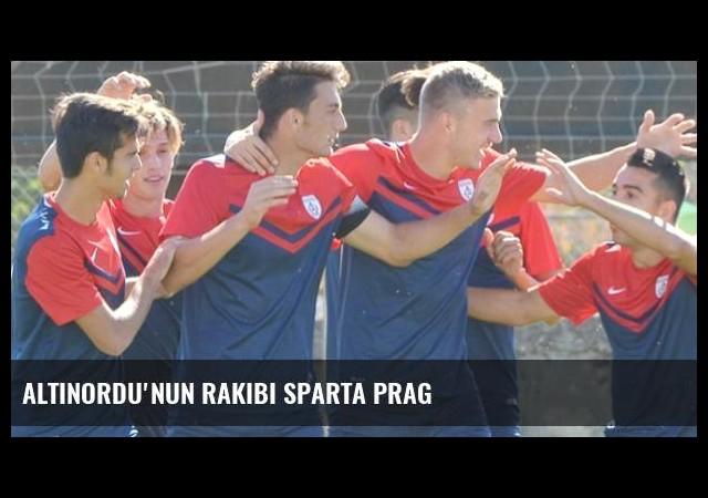 Altınordu'nun rakibi Sparta Prag