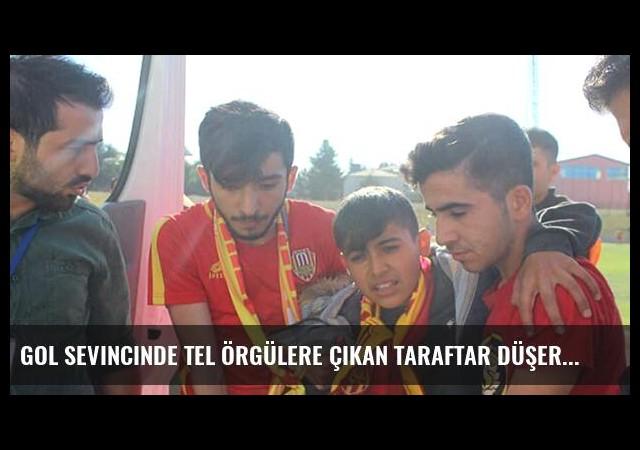 Gol Sevincinde Tel Örgülere Çıkan Taraftar Düşerek Yaralandı