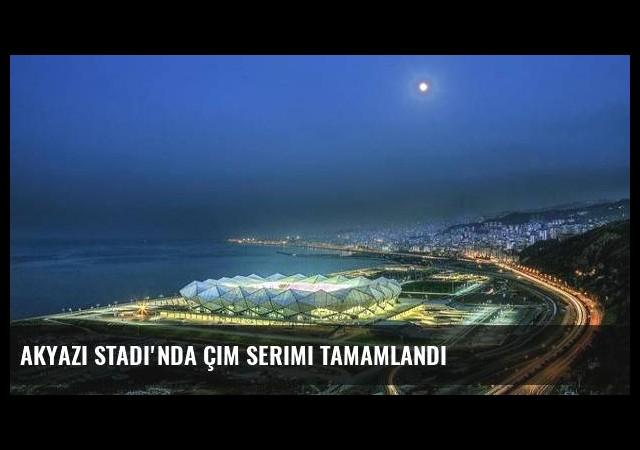 Akyazı Stadı'nda çim serimi tamamlandı