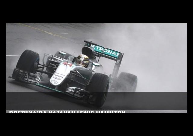 Brezilya'da kazanan Lewis Hamilton
