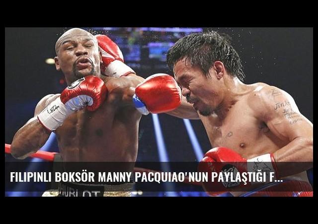 Filipinli Boksör Manny Pacquiao'nun Paylaştığı Fotoğraf Heyecan Yarattı