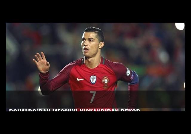 Ronaldo'dan Messi'yi kıskandıran rekor