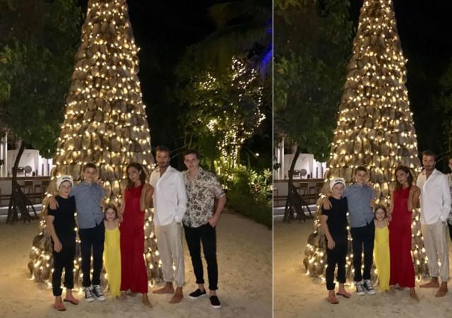 Beckham ailesinden mutluluk pozu