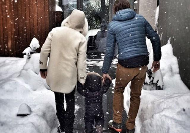 Engin Altan ve Neslişah Alkoçlar'ın oğlu Emir Aras 1 yaşında
