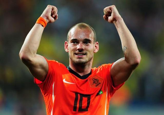 Sneijder doğum gününde Hollanda tarihine geçti!