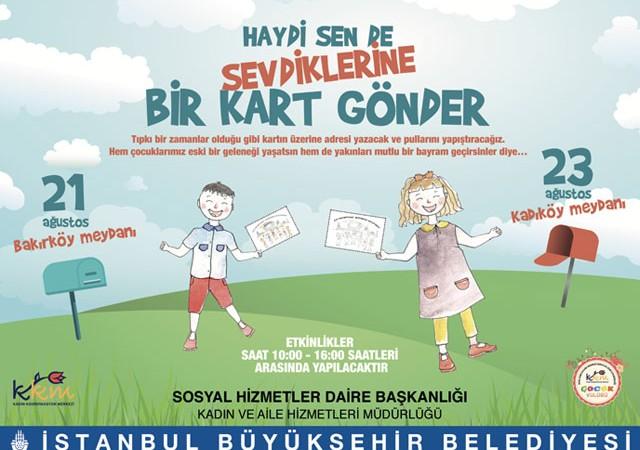 'Bayram Tebriği' projesi çocukları bekliyor