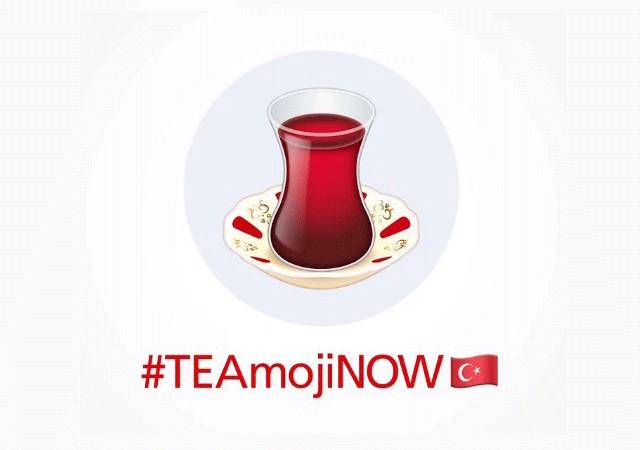 İnce belli çay bardağı emoji olma yolunda! #TEAmojiNOW'a destek yağıyor