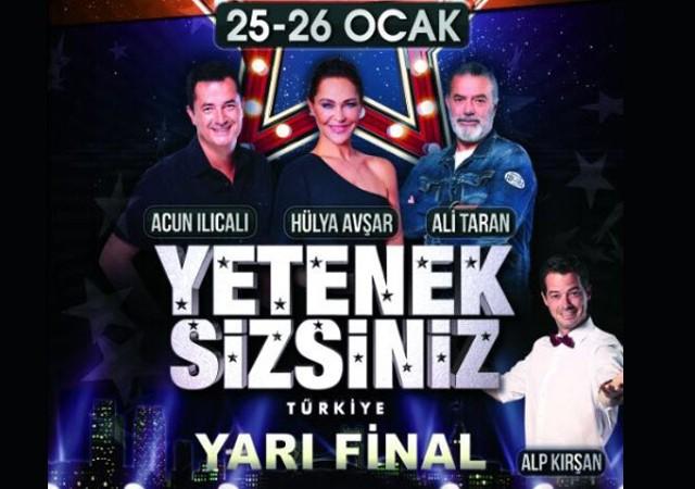 Yetenek Sizsiniz'in Yarı Finali 25-26 Ocak'ta Bursa'da!