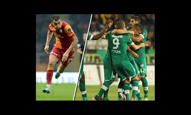 Galatasaray ve Bursaspor Karşılaşmasının Özet Görüntüleri
