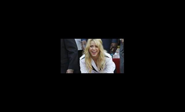 Shakira Kaldırım Yıldızı Oldu
