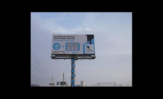 Reklam Panosundan Su Ürettiler