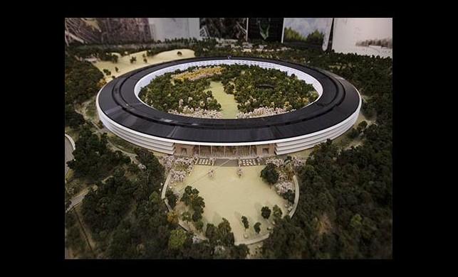 Uzay gemisi değil Apple binası