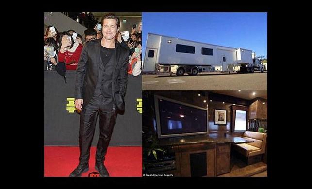 İşte Brad Pitt'in lüks karavanı