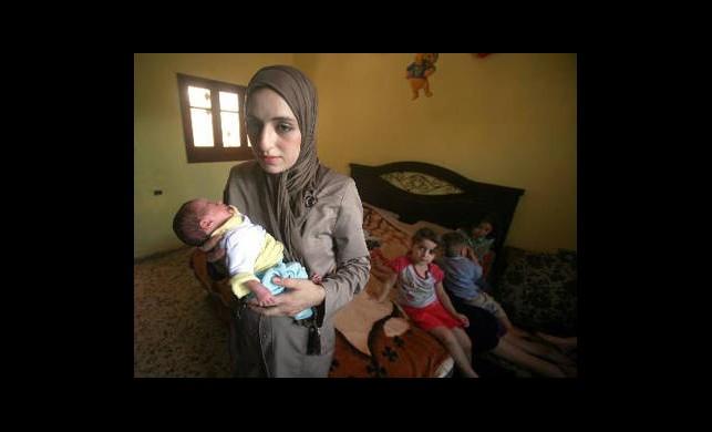 Gazze'de 11 Çocuklu 21 Yaşındaki Anne