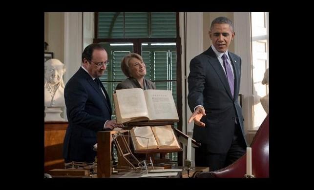 Obama ve Hollande malikane gezdi