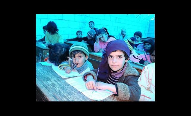 Bombardımandan Kurtarılan Sıralarda Eğitim