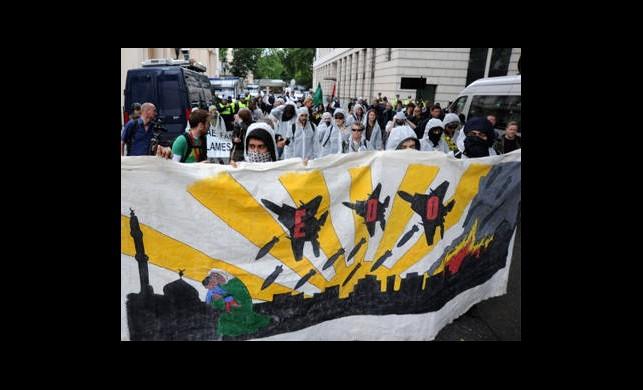 G8 Protestosunda Gazze'ye Destek