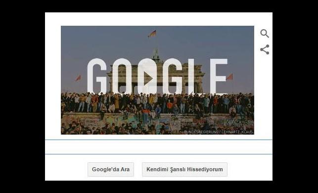 Google'dan Berlin Duvarı doodle'ı