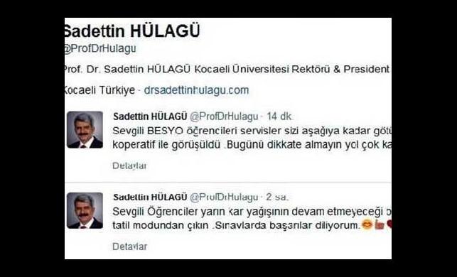 Rektörden gülümseten kar tatili tweeti