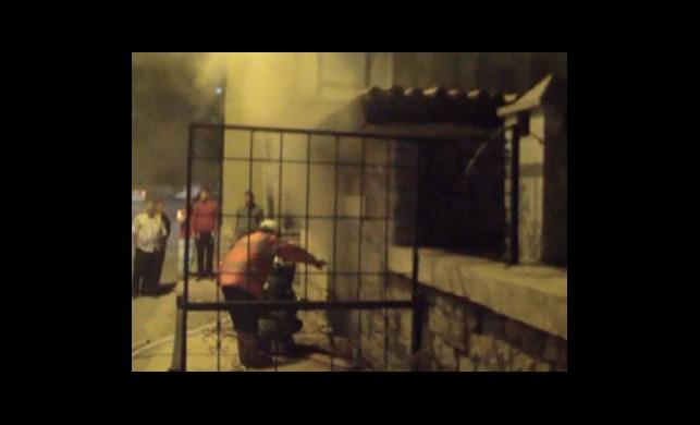 Tarihî Hamamda Yangın Paniği