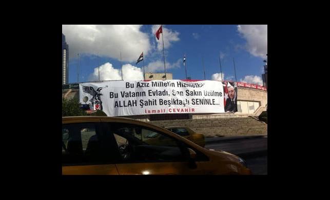 İnönü'de Dikkat Çeken Pankart