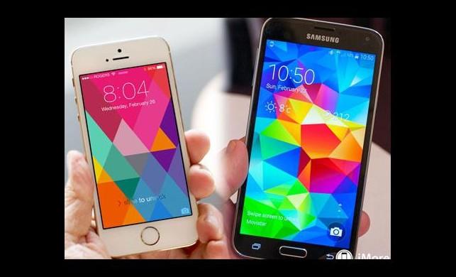 Galaxy S5 ilk haftadan iPhone 5s'i geçti