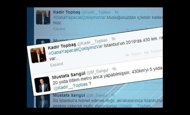 Kadir Topbaş ile Mustafa Sarıgül sosyal medyada olay oldu
