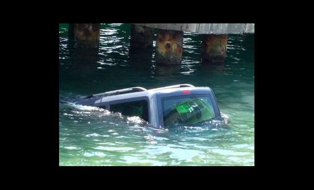 Bedensel Engelli Sürücü Otomobiliyle Denize Uçtu