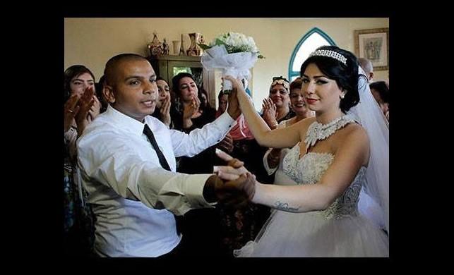 Savaşın ortasında İsrail - Filistin düğünü
