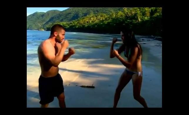 Survivor Turabi ve Sahra'dan boks maçı - izle