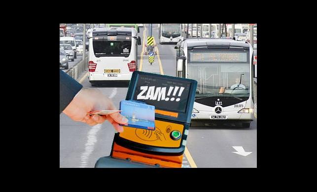 İstanbul'da Toplu Taşımaya Zam