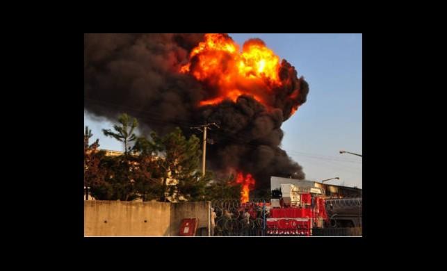 Bozüyük Kağıt Fabrikasında Yangın