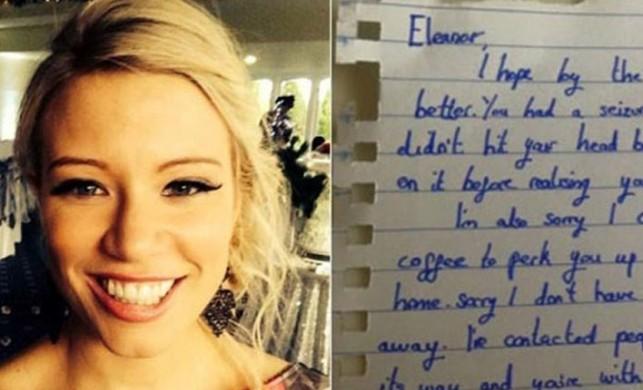 Genç kız trende bayıldı, cebinde bu notu buldu