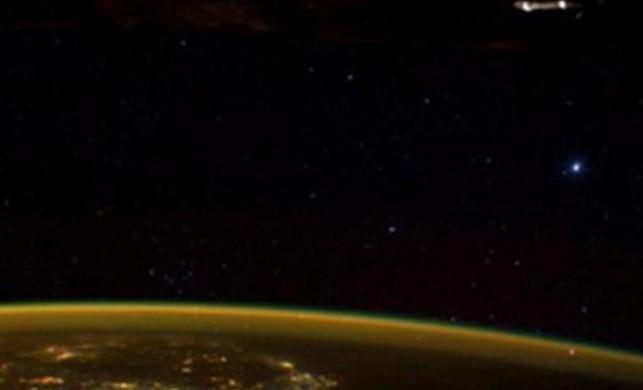 Astronotun paylaştığı kare 'UFO' tartışması başlattı