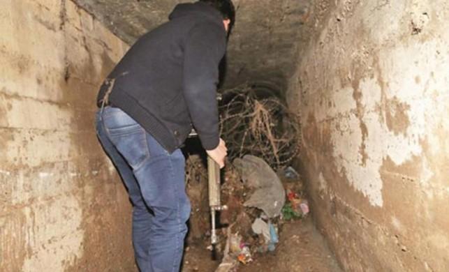PKK tünelinde tonlarca silah bulundu