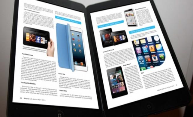 Çift ekranlı iPad yolda