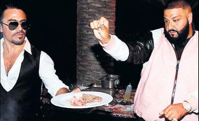 DJ Khaled'in partisinde Nusret şov!