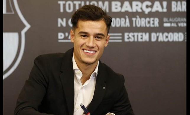 Rekor transfer resmen tamamlandı! Coutinho Barcelona'ya imza attı...