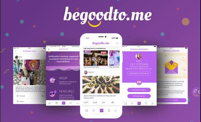 İçimizdeki iyiliği ortaya çıkaran mobil uygulama: begoodto.me