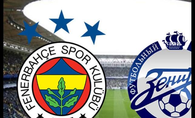 Fenerbahçe Zenit maçı saat kaçta, hangi kanalda? Fenerbahçe Zenit muhtemel 11