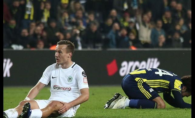 Fenerbahçe Atiker Konyaspor ile 1-1 beraber kaldı MAÇ SONUCU