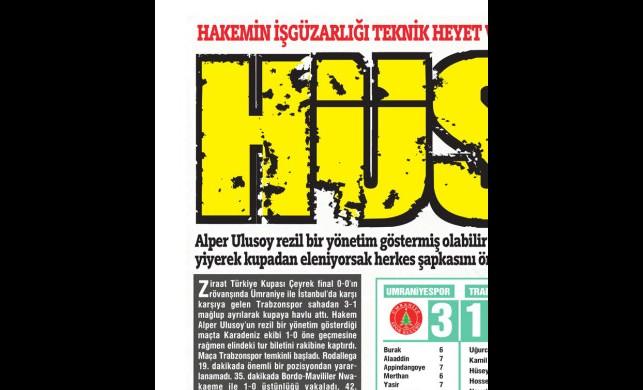 Trabzonspor'da 'kupa üzüntüsü' yaşanıyor