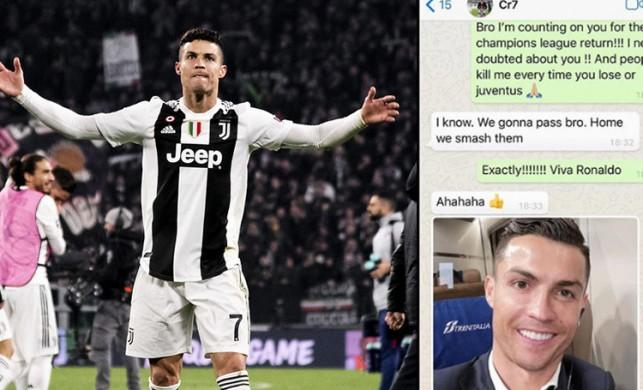 Patrice Evra, Ronaldo'yla Whatsapp yazışmalarını paylaştı